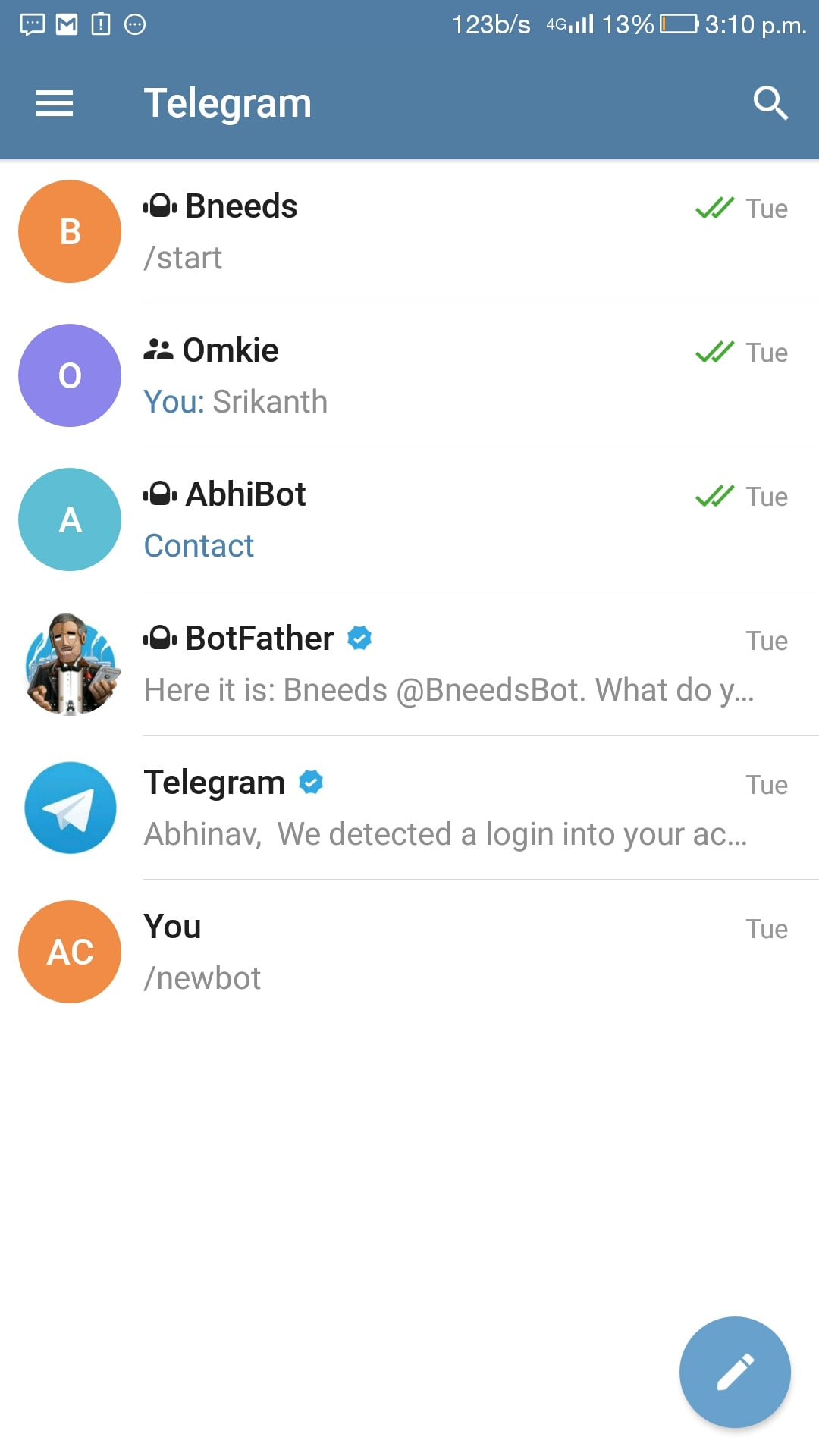 Telegram Bot Process