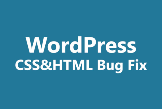 We will fix WordPress error, customize theme and fix css issues