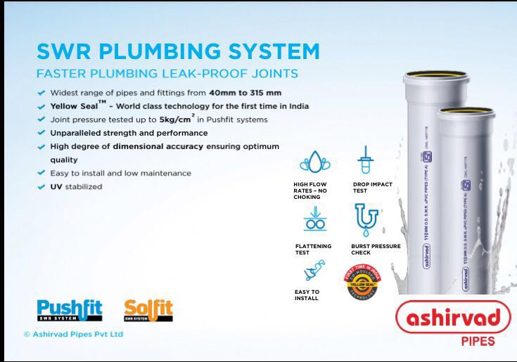 ASHIRVAD SWR PIPES AND FITTINGS