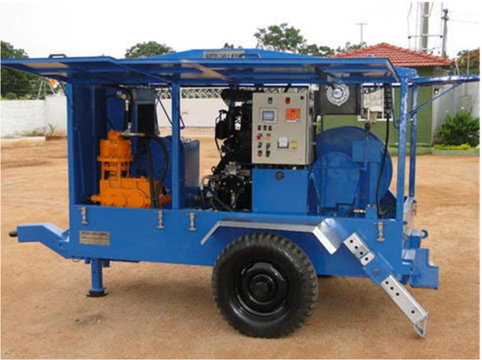 cable pulling Machine Hydraulically operated