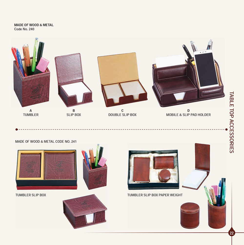 Leather Table Top Gift Sets