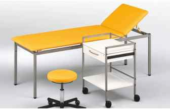 EXAMINATION TABLE WITH SIDE TABLE & CHIAR FOR CLINICS